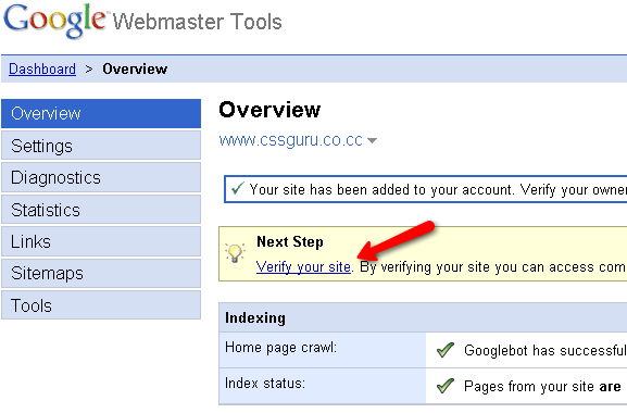 Overview google webmaster tool
